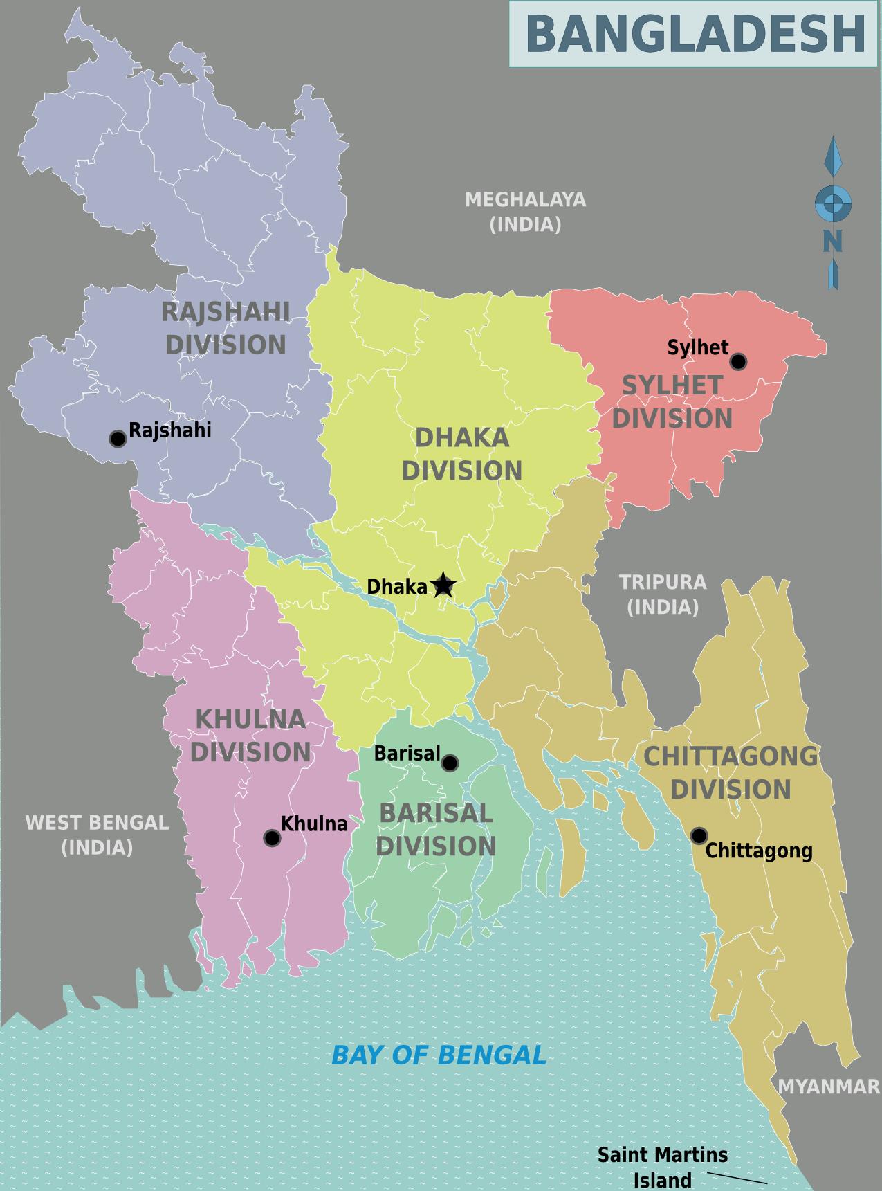 Map of Bangladesh (Map Regions) : Worldofmaps.net - online ...